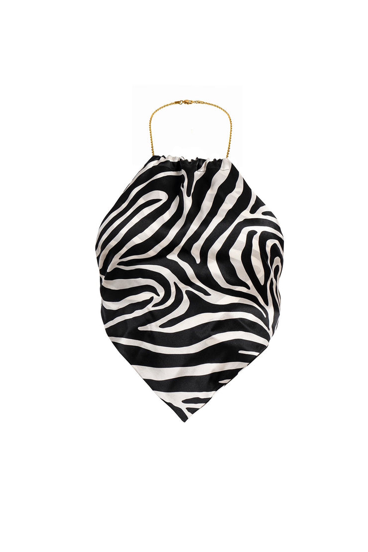Zebra Scarf Jewel Top