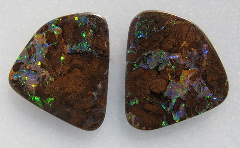 Boulder Opal Bookmatched Pair #2244