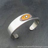 Stainless Steel and Motor Agate Fordite Bracelet #2130