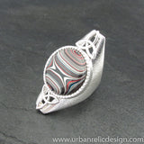 Sterling Silver and Motor Agate Fordite Ring #2025