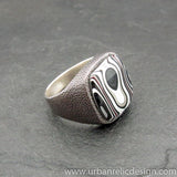 Sterling Silver and Motor Agate Fordite Ring #2060