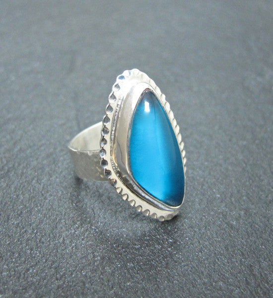 Sterling Silver & Bowlerine Ring #1172