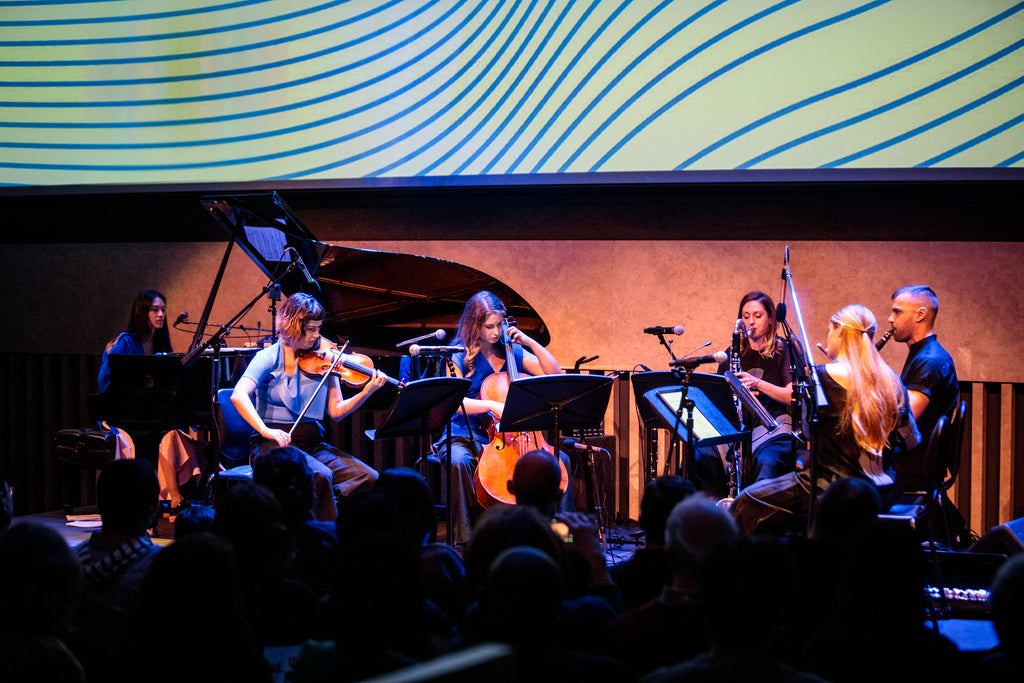 Nouveau Classical Projects performs at Lincoln Center Atrium dressed in NOT by Jenny Lai