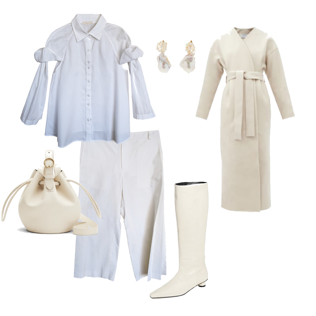 White monochromatic outfits NOT by Jenny Lai