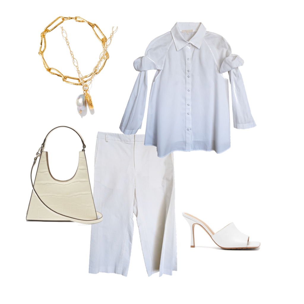 white monochromatic look for spring/summer designs by NOT by Jenny Lai