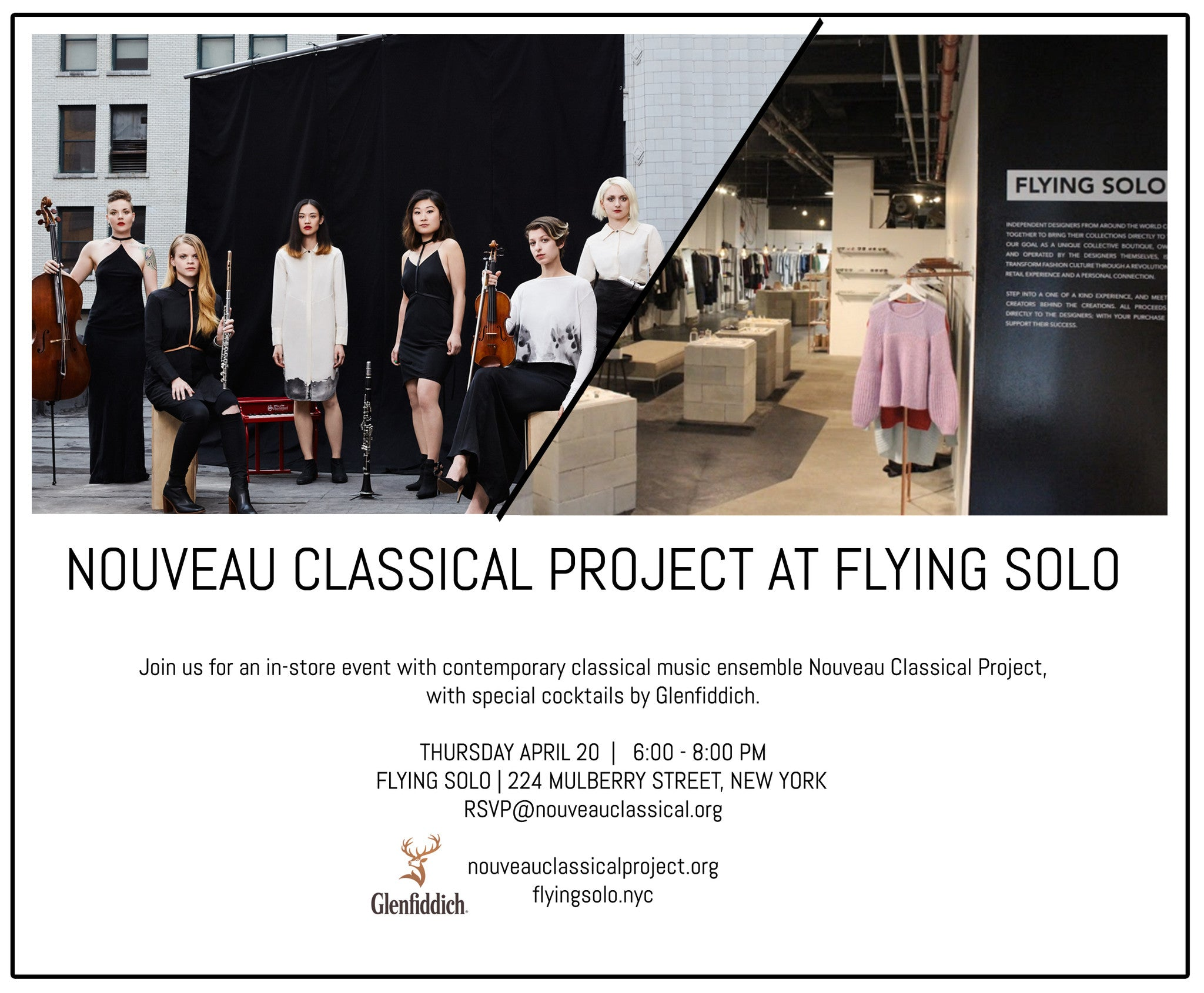 nouveau classical project at flying solo happy hour with glenfiddich
