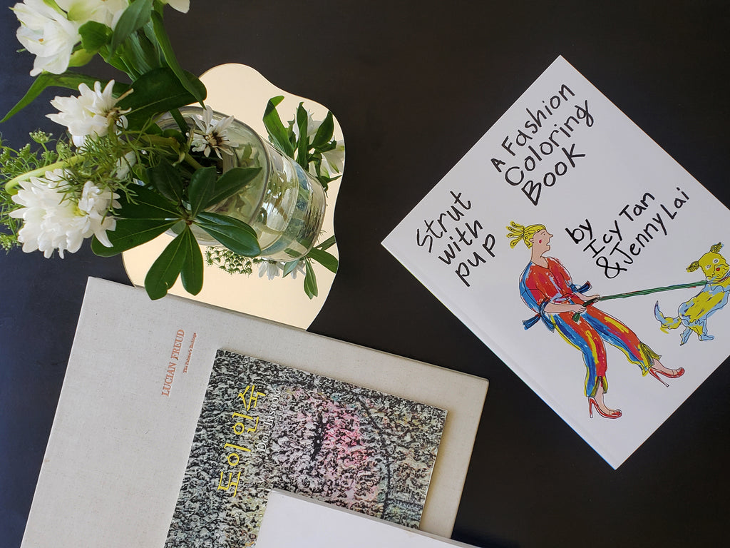 A few of Grace's artbooks on the coffeetable.