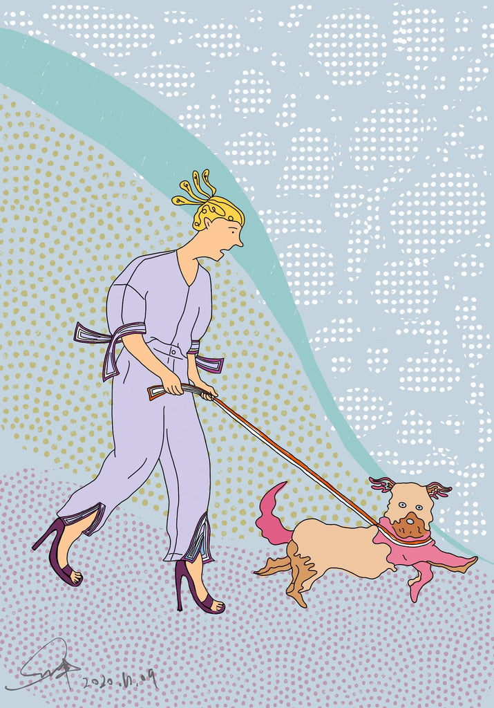 coloring page from strut with pup fashion coloring book