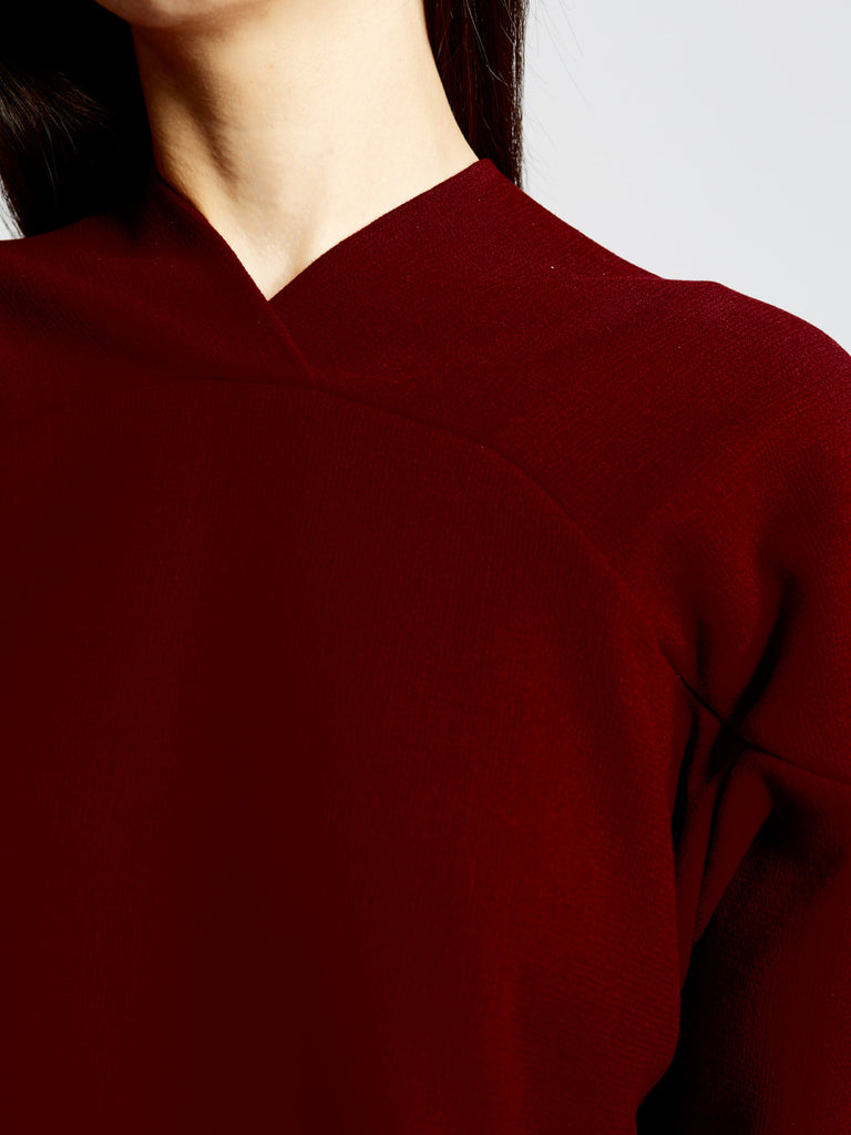 Curve Shoulder Sweater Wool