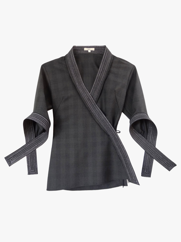 3/4 Cross Strap Wrap Gray