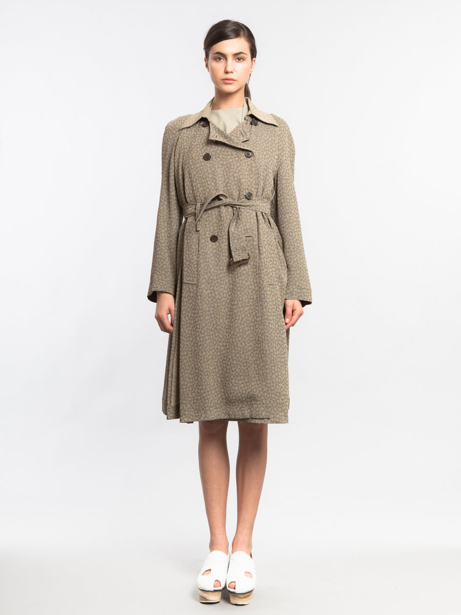 Revolve Trench Leopard