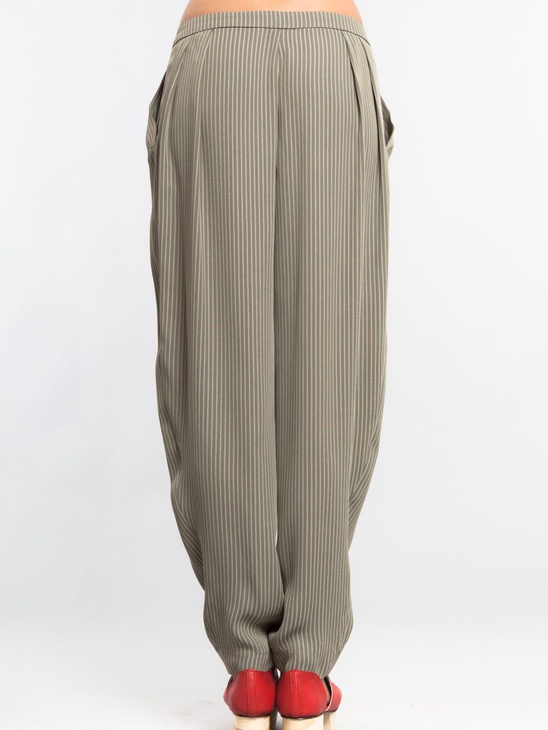 Loose Pleat Pants Stripe