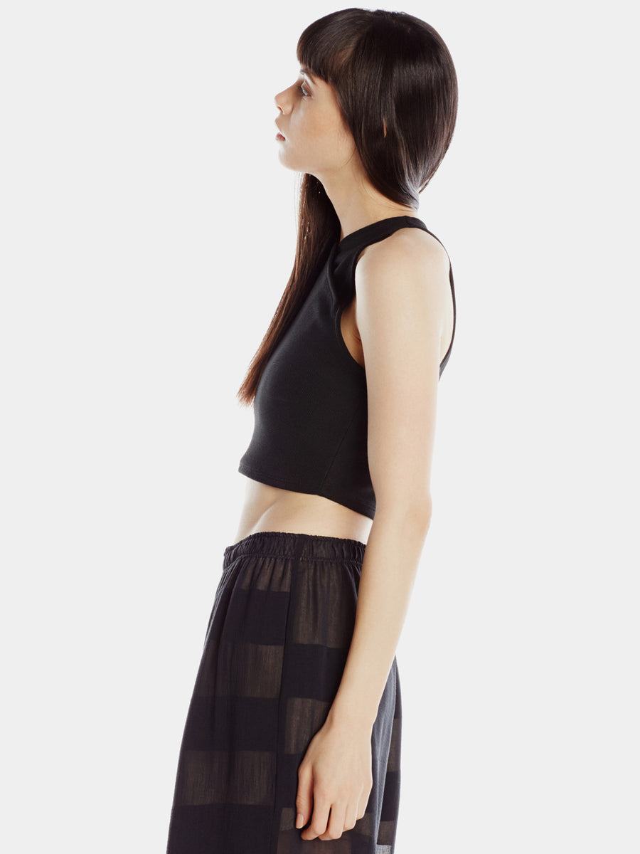 Diagonal Cropped Halter