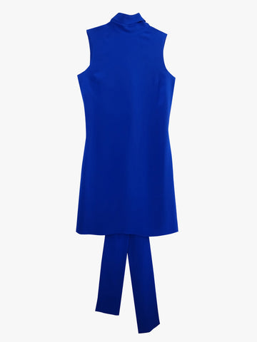 Back Loop Dress Blue