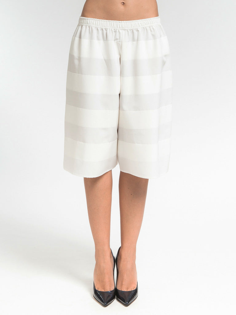 Banded Shorts White