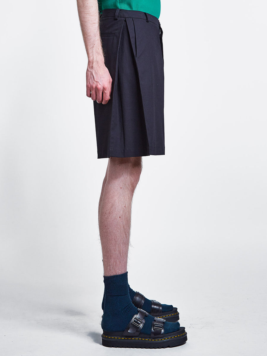 Side Pleat Shorts