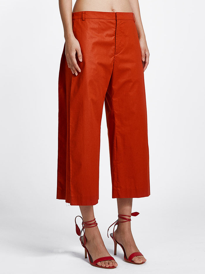 Side Pleat Pants Chintz