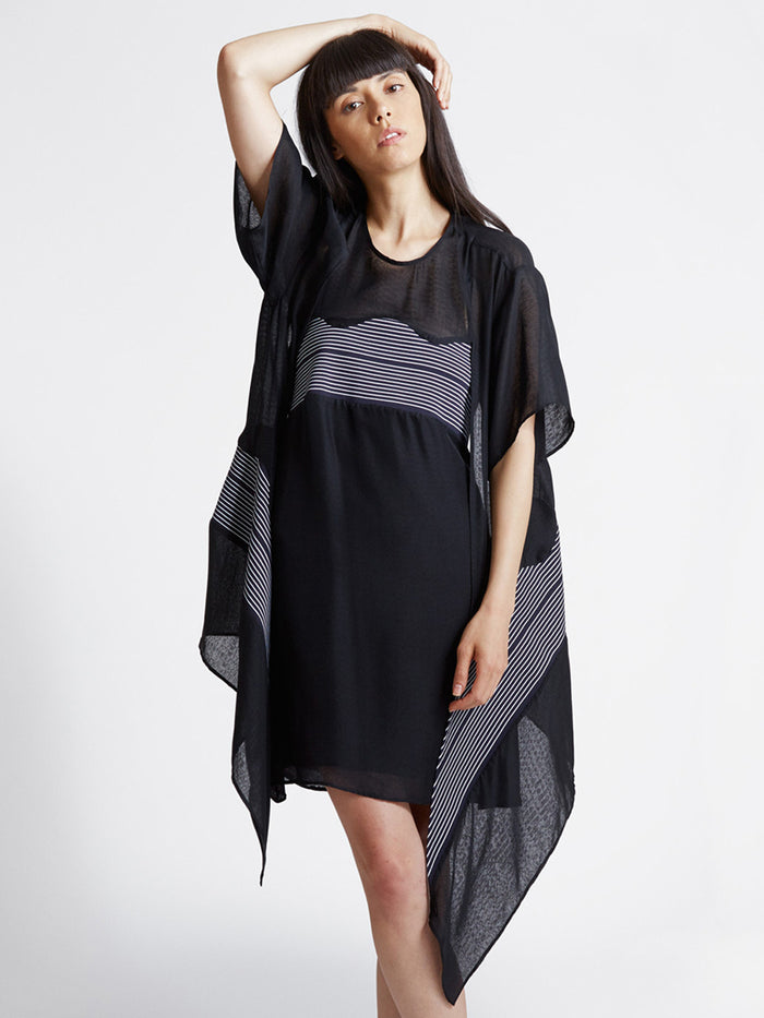 Detachable Sleeve Dress