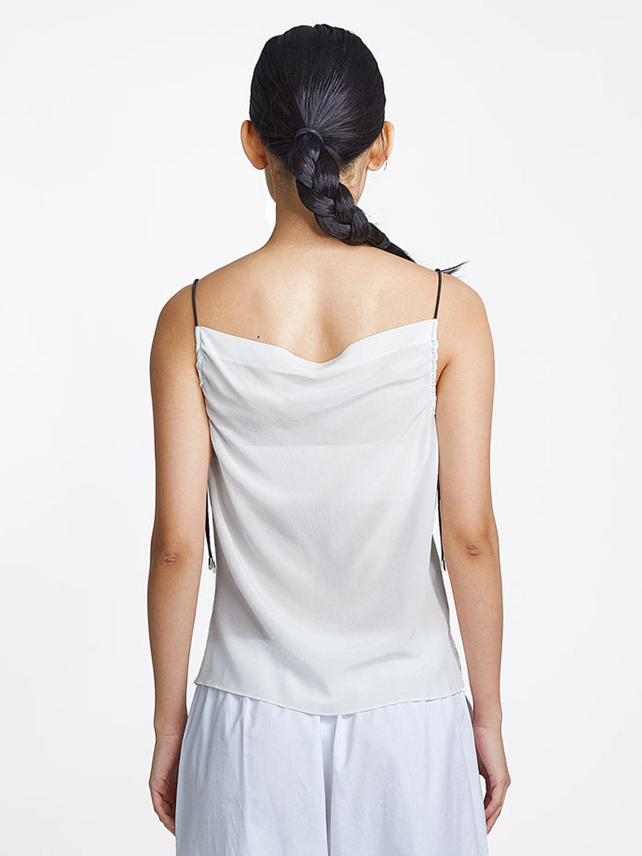 Elasticated Tank White