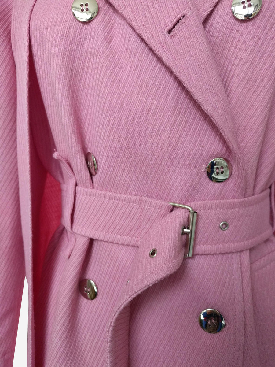 Revolve Trench Pink Wool