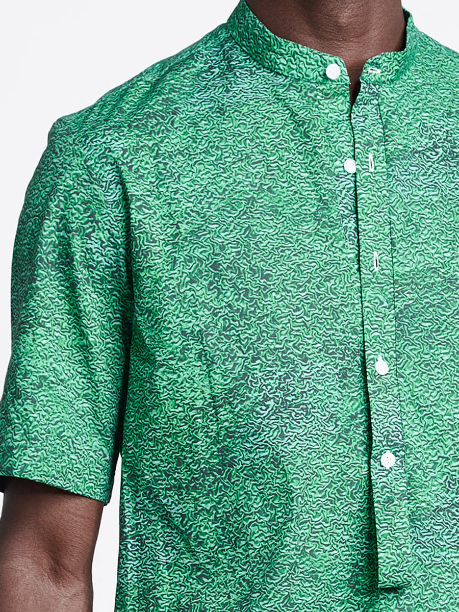 Loop Placket Shirt Print