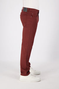 SLIM-STRAIGHT MEN'S JEAN - WINE WASH