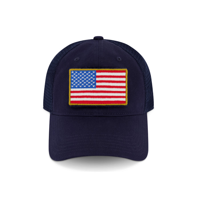 DEVIL-DOG Embroidered Blue Flag Hat