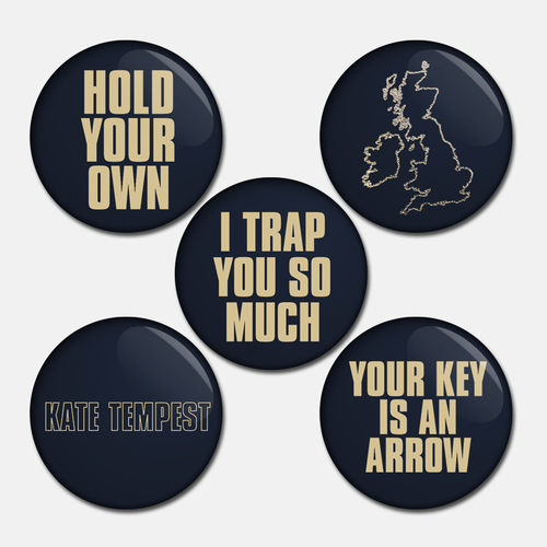 Set of 5 badges