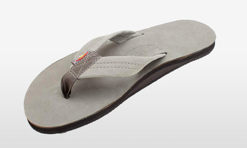 Premier Leather Wide Strap Grey