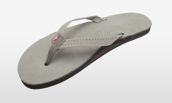 Premier Leather Narrow Strap Grey