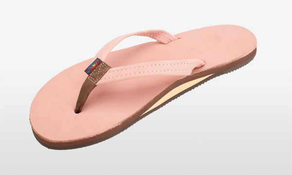 Premier Leather Narrow Strap Pink