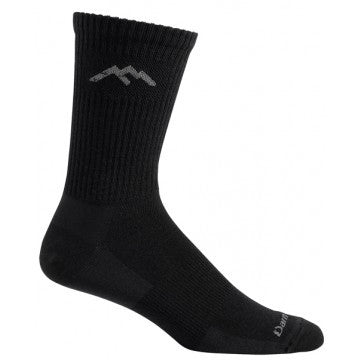 14025 Darntough Tactical Boot Sock - Merino Wool Micro Crew Ultra Light Black