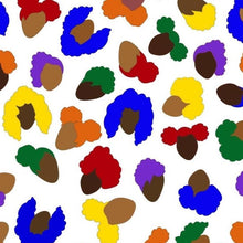 Load image into Gallery viewer, Brown and black boys and girls creating a faux leopard print in a multi-color design