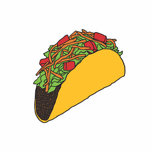 Taco Temporary Tatoo