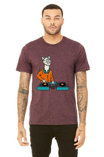 DJ LlamaRama T-Shirt - Unisex Heather Maroon