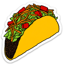 Load image into Gallery viewer, Taco Die-Cut Vinyl Sticker