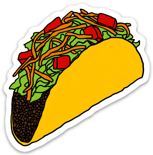 Taco Die-Cut Vinyl Sticker
