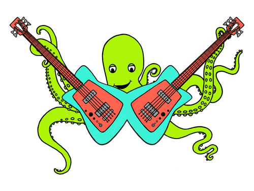 Octo Rocks Ou Vinyl Stickers