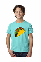 Load image into Gallery viewer, Taco T-Shirt - Youth Tahitian Blue