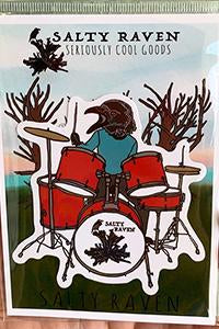 Salty Raven Drums Sticker