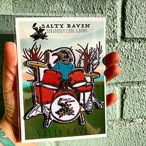 Salty Raven Drums Iron-On-Patch