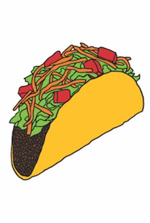 Taco Temporary Tattoo