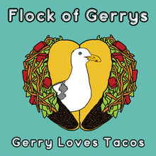"Load image into Gallery viewer, Flock of Gerry's ""Gerry Loves Tacos"" Book by Seasons Kaz Sparks"