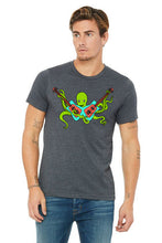 Load image into Gallery viewer, Octo Rocks Out T-Shirt - Unisex Dark Gray Heather