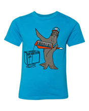 Load image into Gallery viewer, Tuskadero Slim T-Shirt - Youth Turquoise