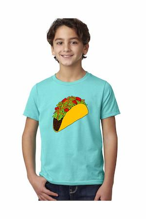 Taco T-Shirt - Youth Tahitian Blue
