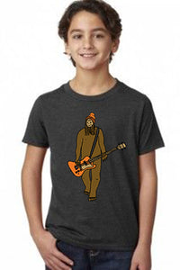 Mr Big  on Bass T-Shirt - Youth Charcoal