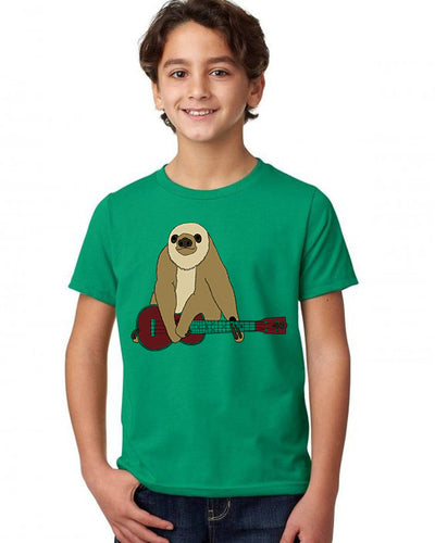 Zososlow Sloth T-Shirt - Youth Kelly