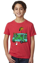 Load image into Gallery viewer, Octo's Tacos T-Shirt - Youth Red