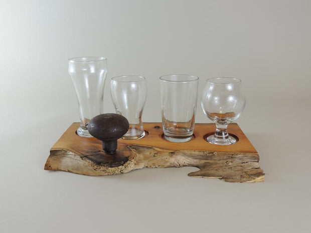 Pacific Yew Beer Flight Set - #002